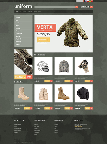 osCommerce Template 49416 Main Page Screenshot