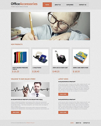 ADOBE Photoshop Template 49423 Home Page Screenshot