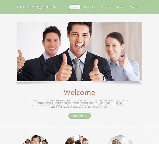 Tema Moto CMS HTML  #49425 per Un Sito di Counseling New Screenshots BIG