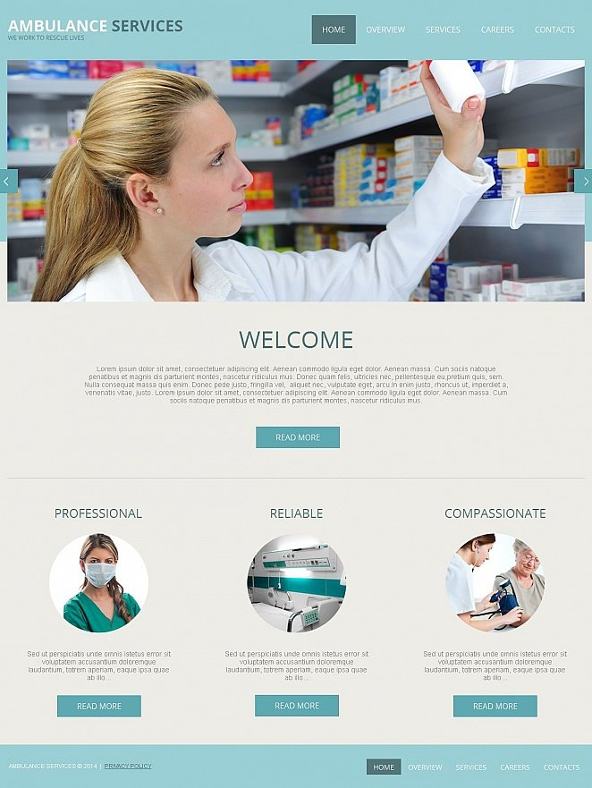 Medical Services Website Template with Image Slider - image