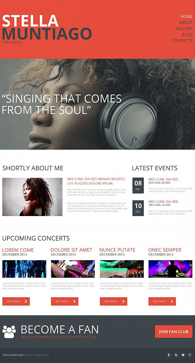 Music Website Template with Creative Design for Singers - image