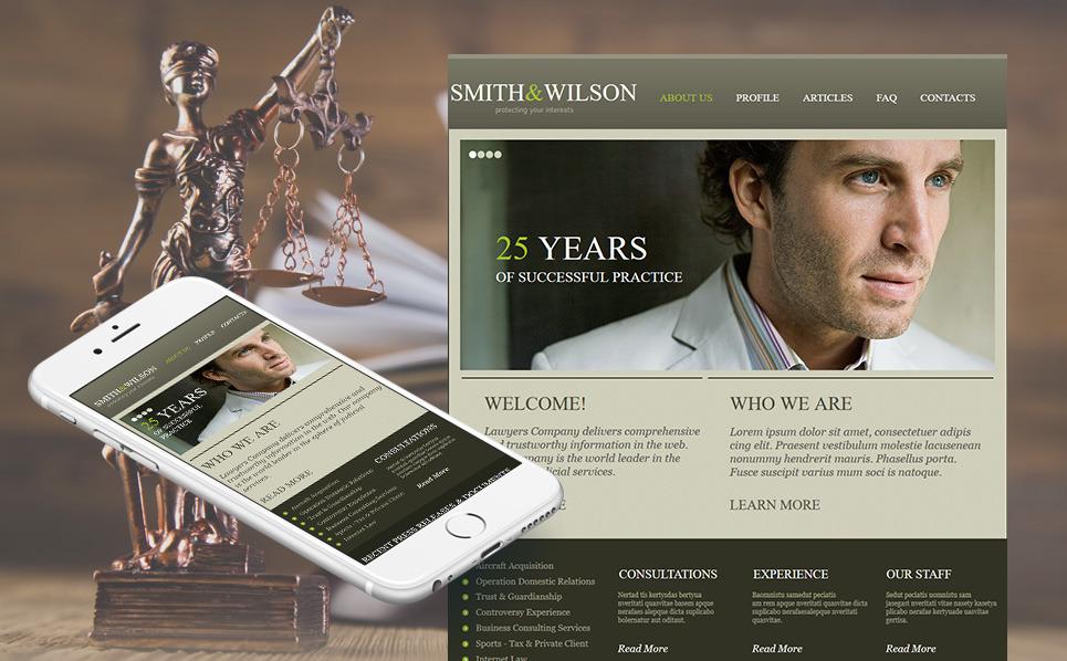 Modèle Moto CMS HTML  pour site d'avocat New Screenshots BIG