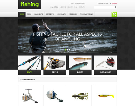 Varity of Fishing Equipment VirtueMart Template