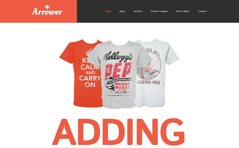 Адаптивний Шаблон сайту на тему типографія New Screenshots BIG