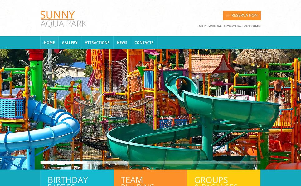Адаптивний WordPress шаблон на тему парк розваг New Screenshots BIG