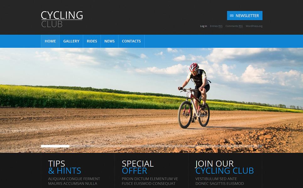 Reszponzív Kerékpározás WordPress sablon New Screenshots BIG