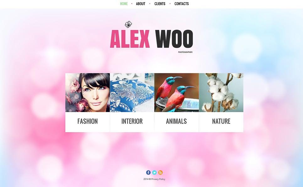 Tema Siti Web Bootstrap #49458 per Un Sito di Fotografi Portfolio New Screenshots BIG