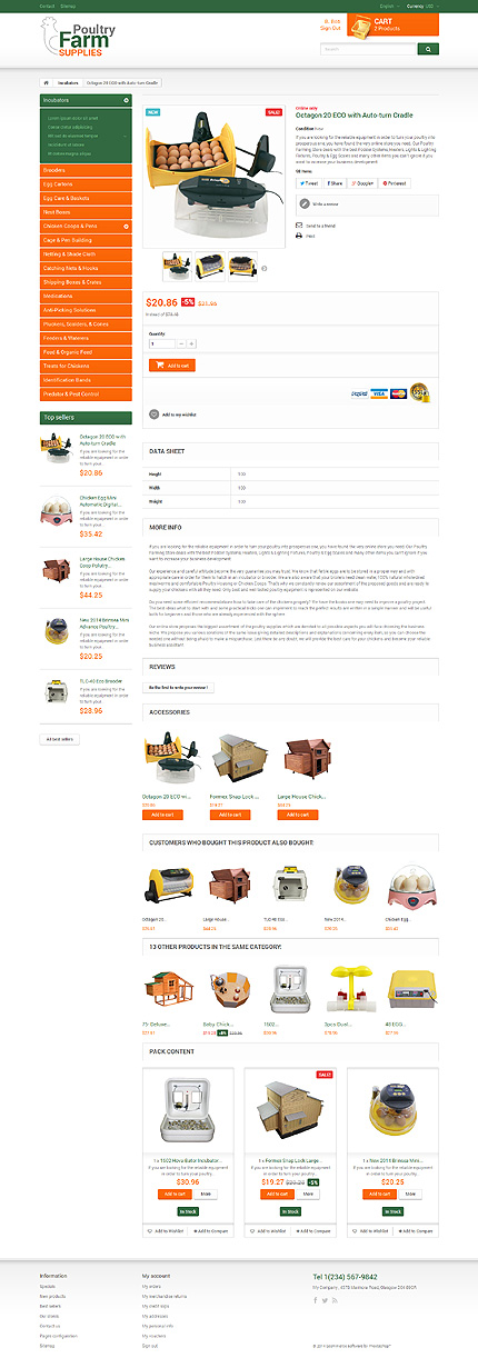 Prestashop Products Page Screenshot