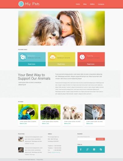 Djurbutik Responsivt WordPress-tema
