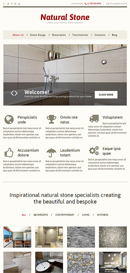 WordPress Theme/Template 49468 Main Page Screenshot