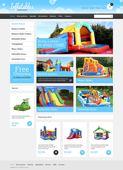 ZenCart Template 49471 Main Page Screenshot