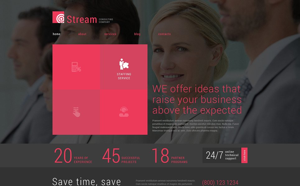 Reszponzív Tanácsadás  Joomla sablon New Screenshots BIG