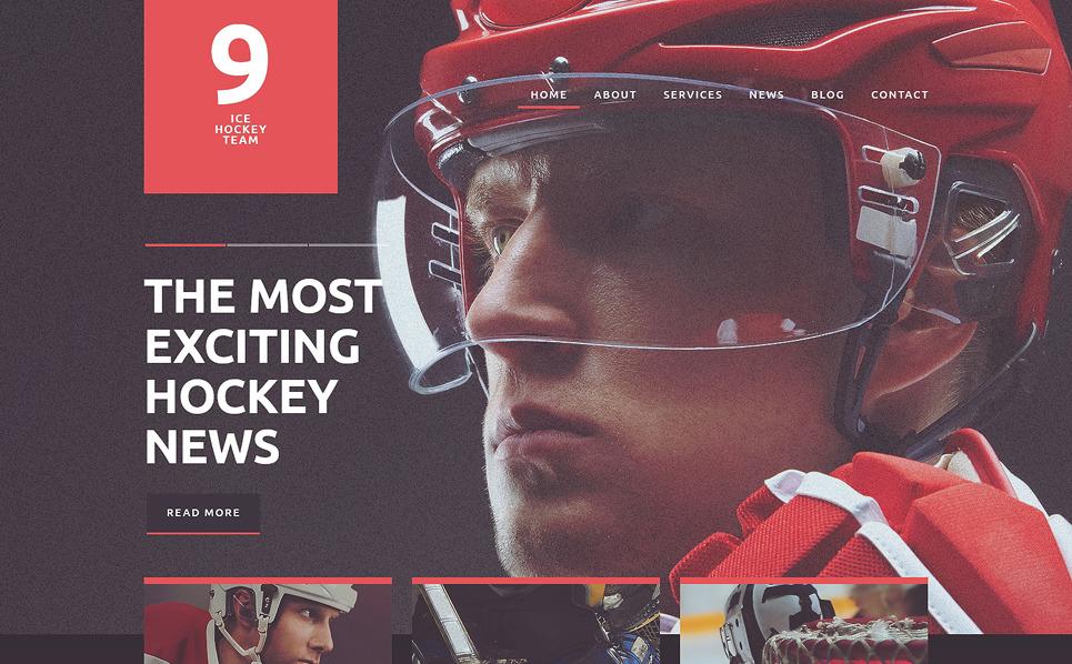 Responsive Joomla Template over Hockey New Screenshots BIG