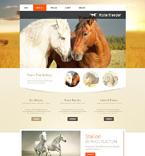 Animals & Pets Website  Template 49490