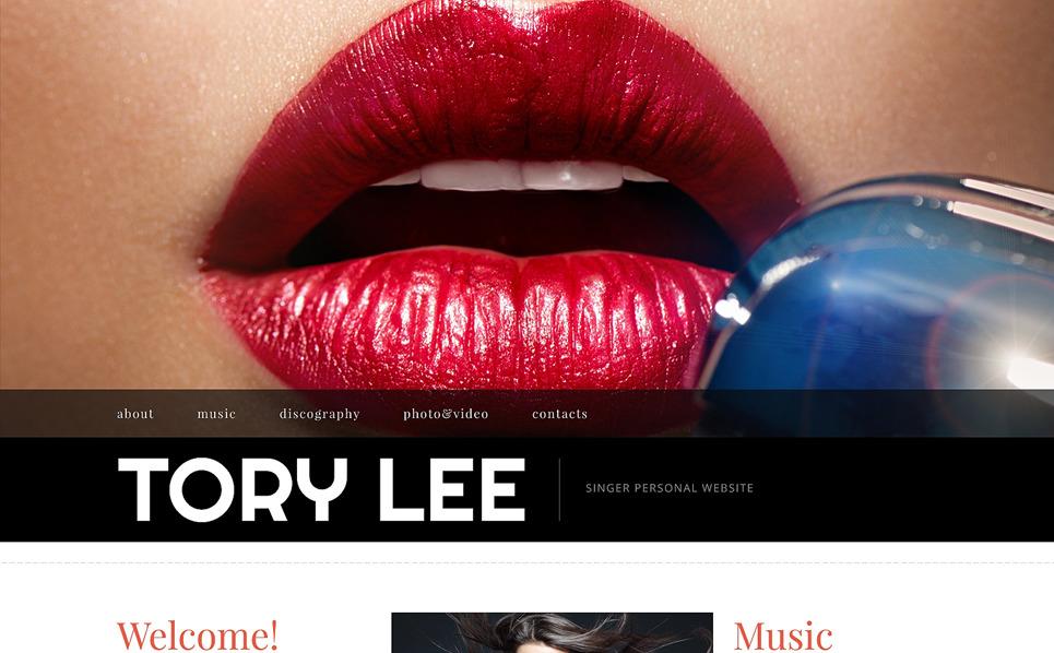 Responsive Website Vorlage für  Persönliche Seite New Screenshots BIG