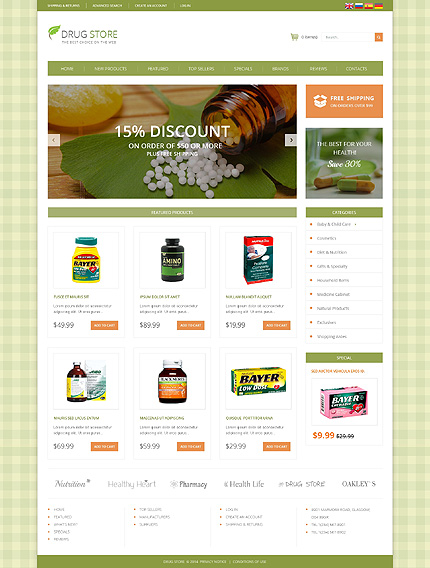 osCommerce Template 49493 Main Page Screenshot