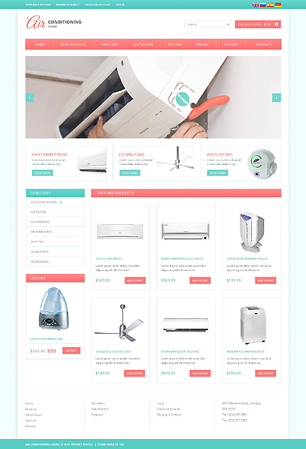 osCommerce Template 49494 Main Page Screenshot