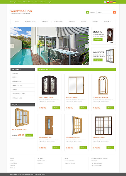 osCommerce Template 49495 Main Page Screenshot
