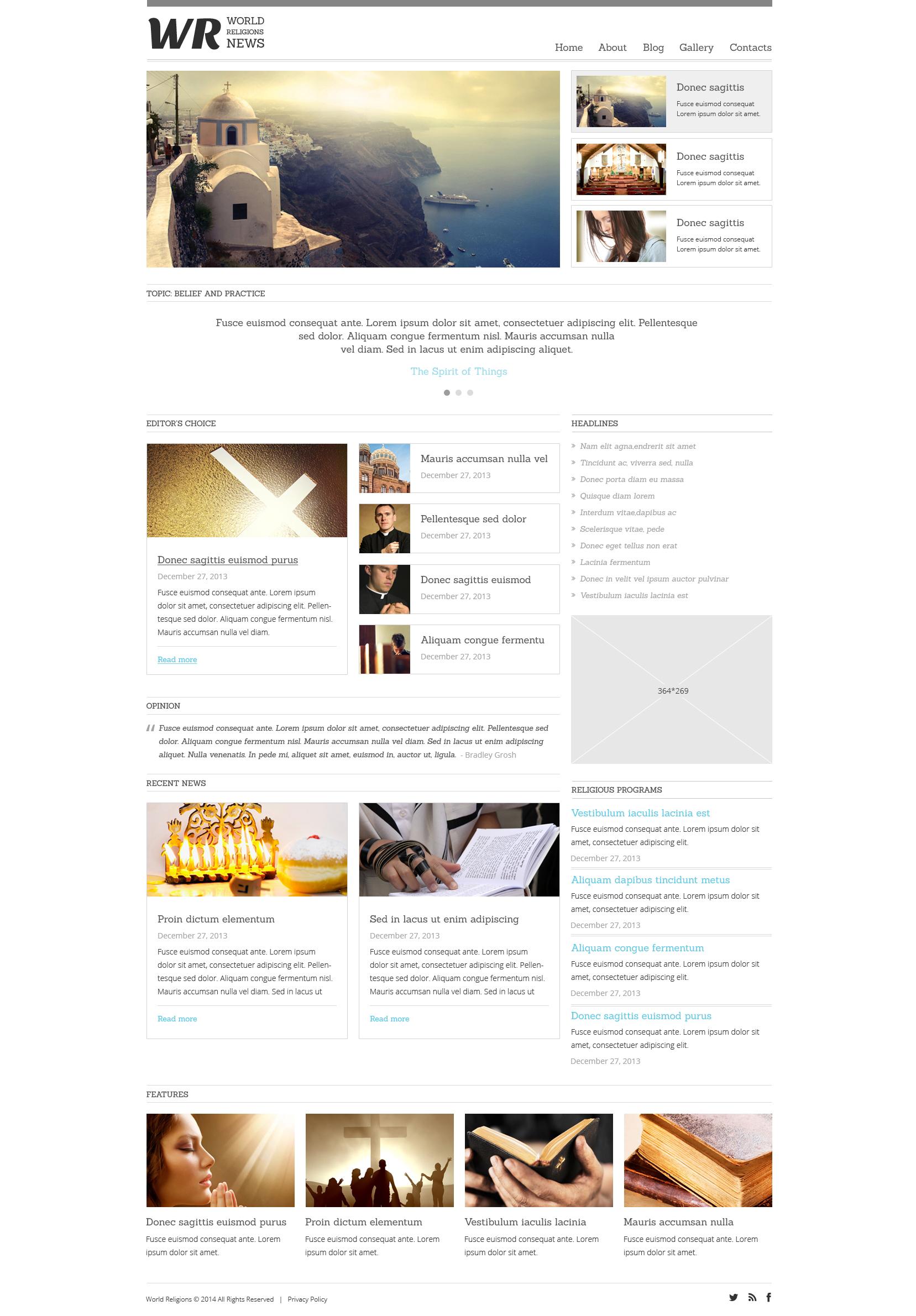 Адаптивный Joomla шаблон №49473 на тему новостной портал