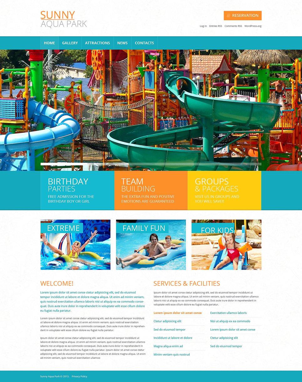 Адаптивный шаблон сайта на тему парк развлечений #49450