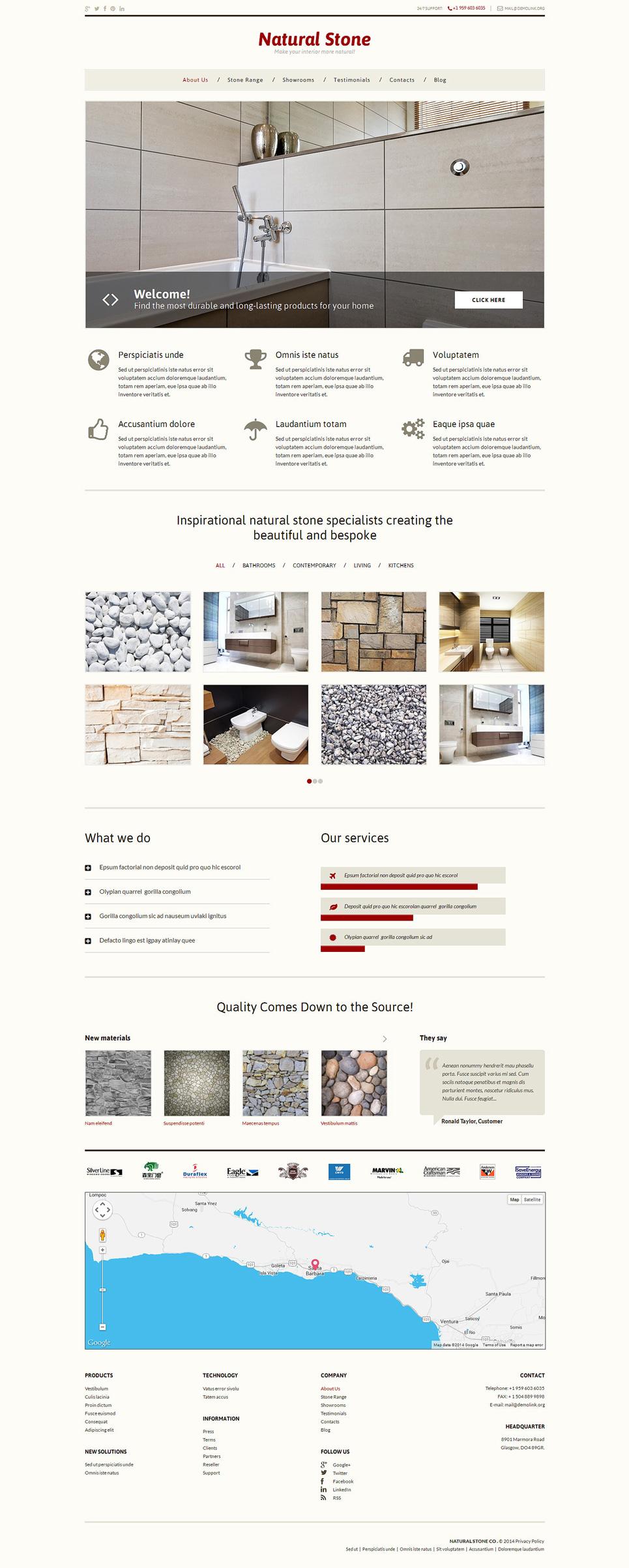 Адаптивный шаблон сайта на тему напольные покрытия #49468