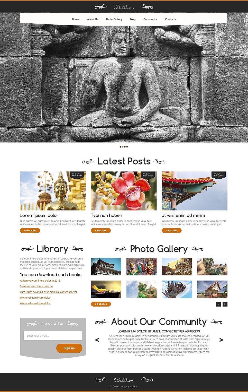 Адаптивный шаблон сайта на тему буддизм #49498