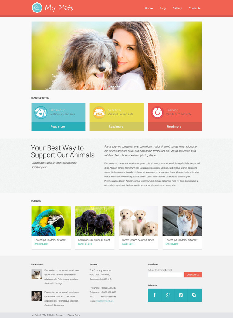Animal Planet WordPress Theme New Screenshots BIG