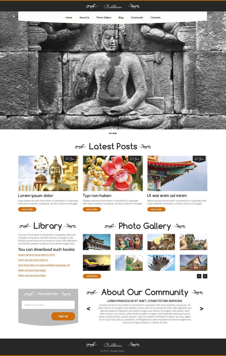 Buddhist Responsive WordPress Theme New Screenshots BIG