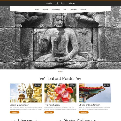 Buddhism - WordPress Template based on Bootstrap