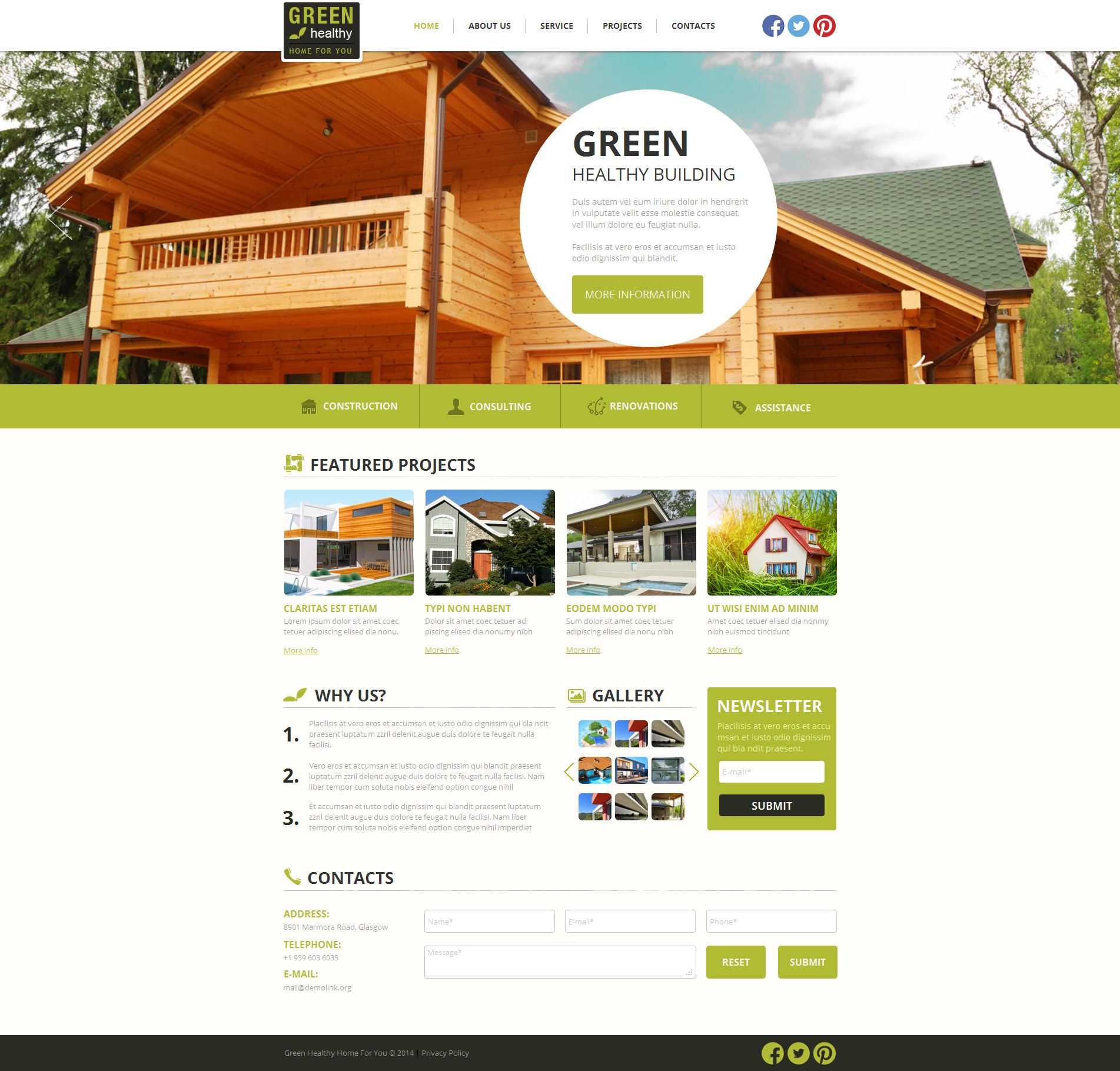 Construction Company Moto CMS HTML Template - screenshot
