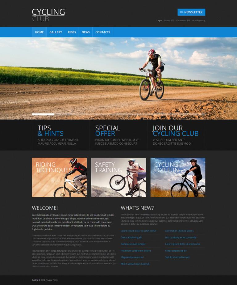 Cycling Responsive WordPress Theme New Screenshots BIG