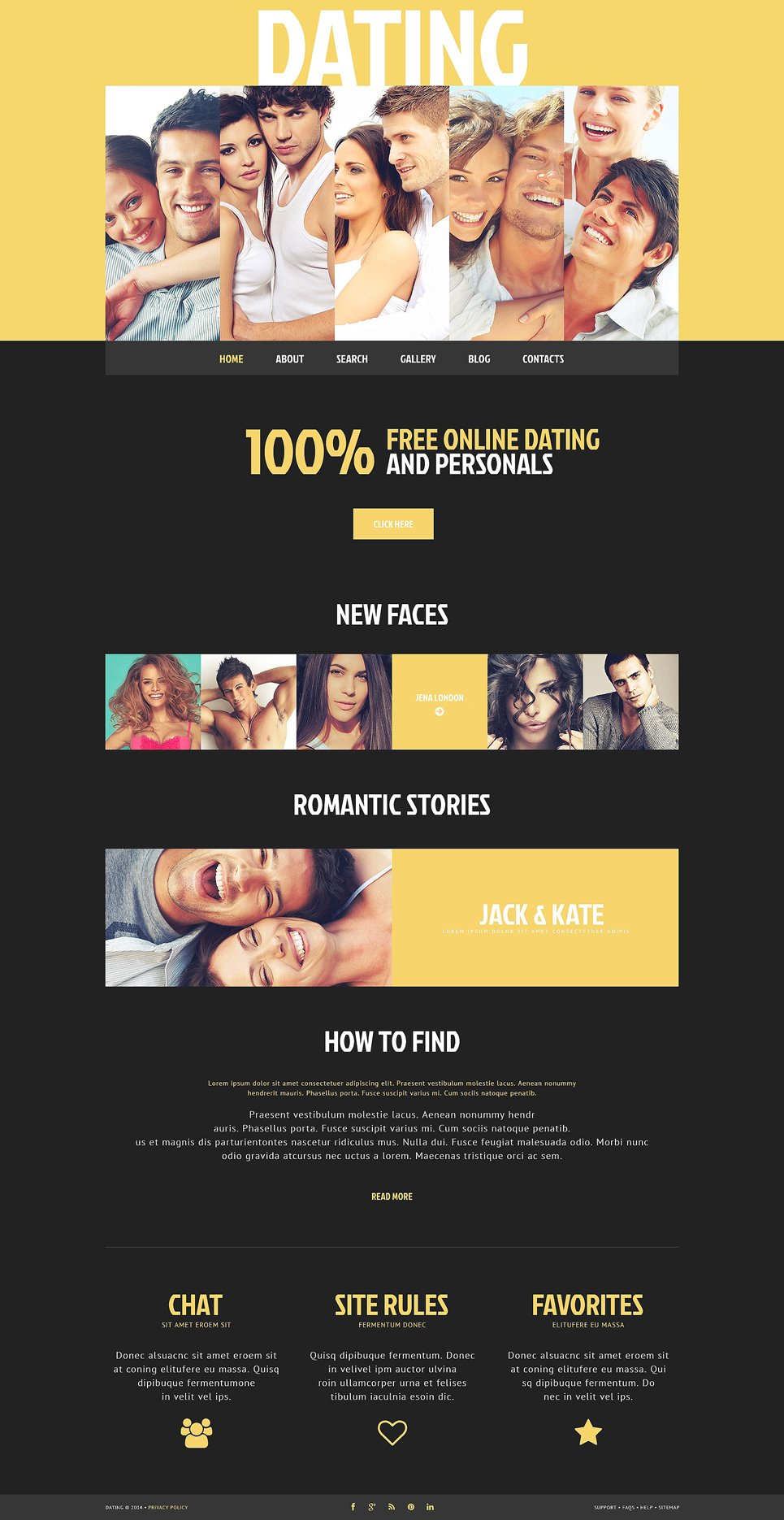 Dating site web design