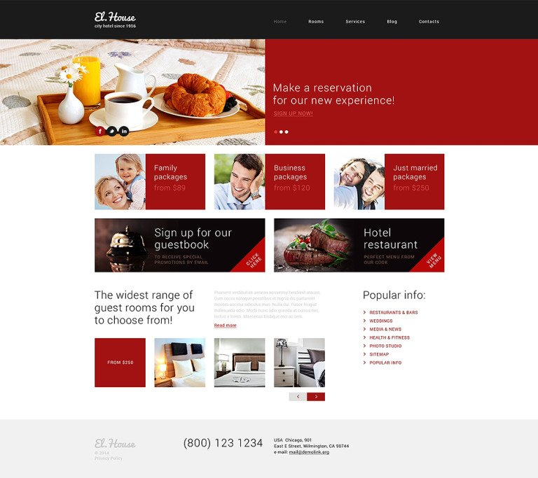 Dream Escape Inn WordPress Theme New Screenshots BIG