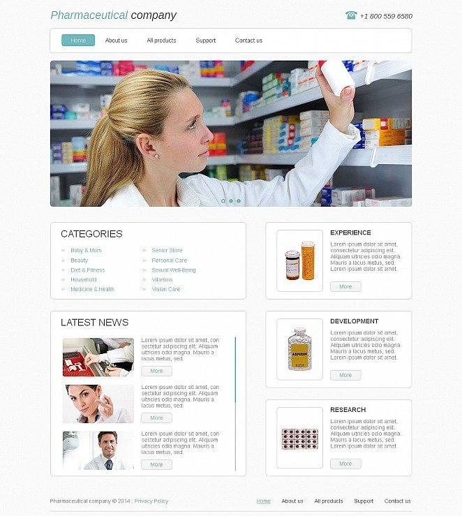 Drug Store Moto CMS HTML Template New Screenshots BIG