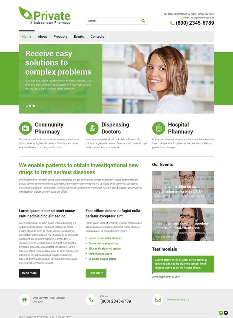 Drug Store Responsive Website Template New Screenshots BIG