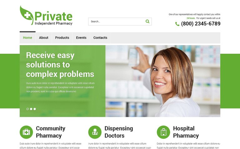Drug store responsive website template 49443 drug store responsive website template new screenshots big maxwellsz