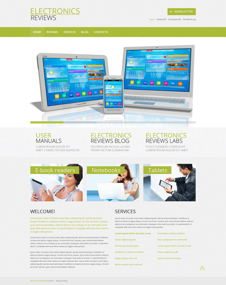 Electronics Review Responsive WordPress Theme New Screenshots BIG