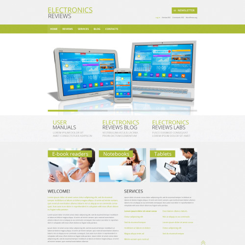 Electronics Reviews - WordPress Template based on Bootstrap