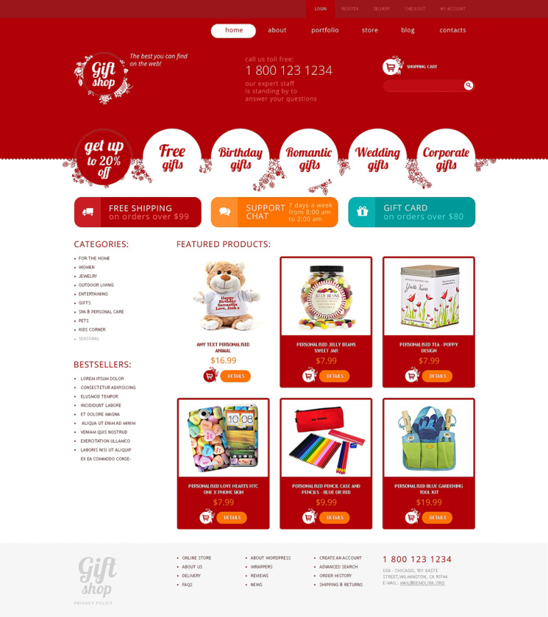 Gifts Store Responsive WooCommerce Theme New Screenshots BIG