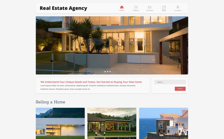 Home Bureau Joomla Template - Template for selling home