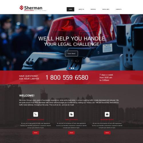Sherman - Responsive Website Template