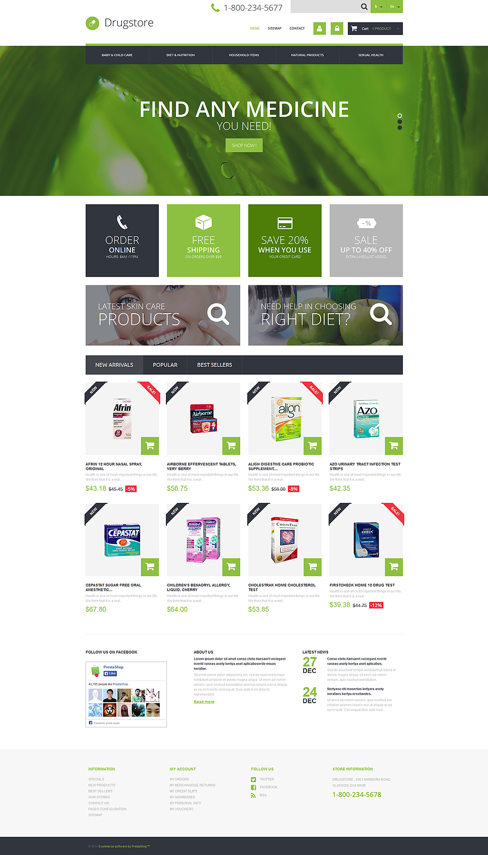 Medical Ecommerce Business PrestaShop Theme #49469