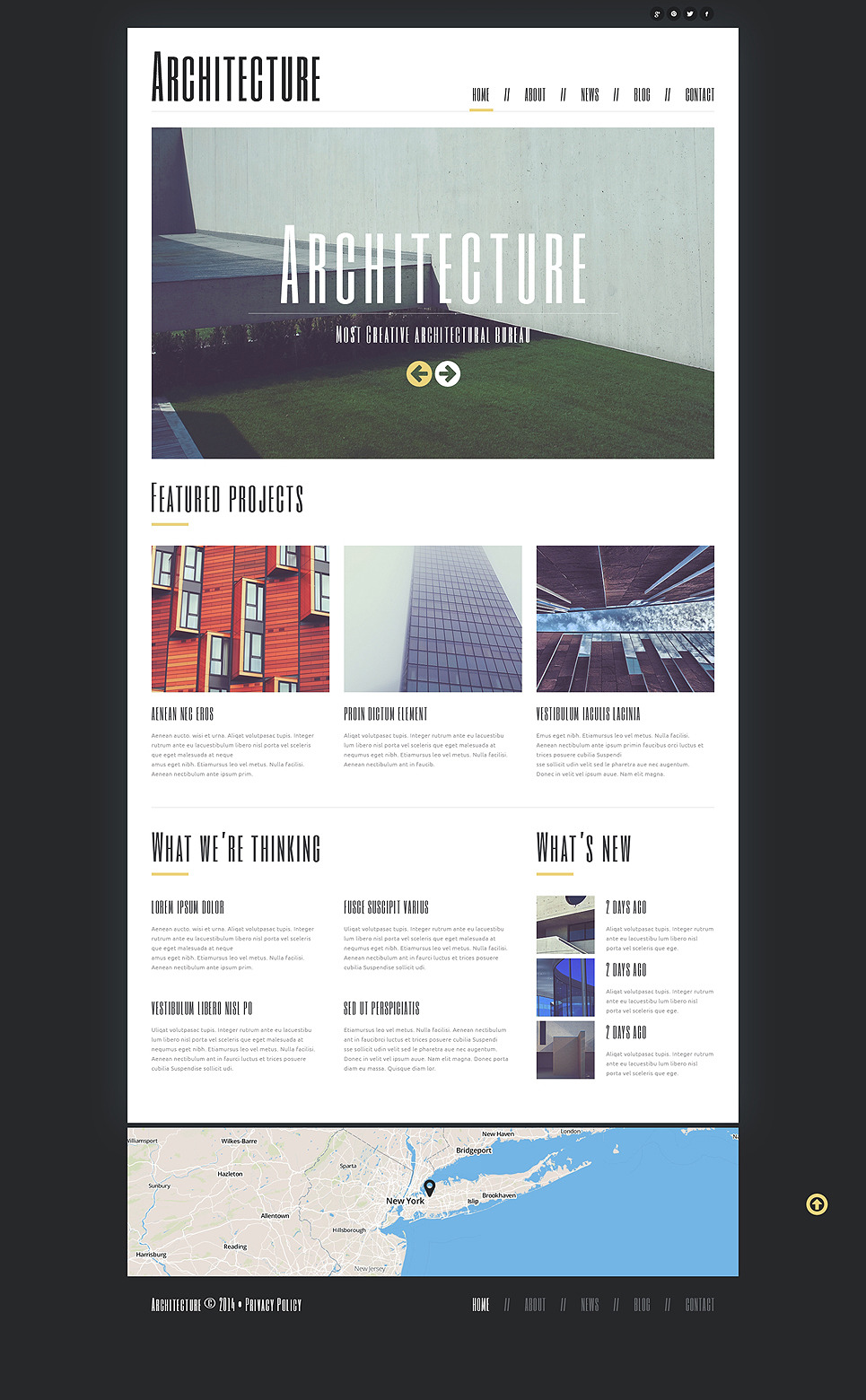Minimalism in Architecture Joomla Template New Screenshots BIG