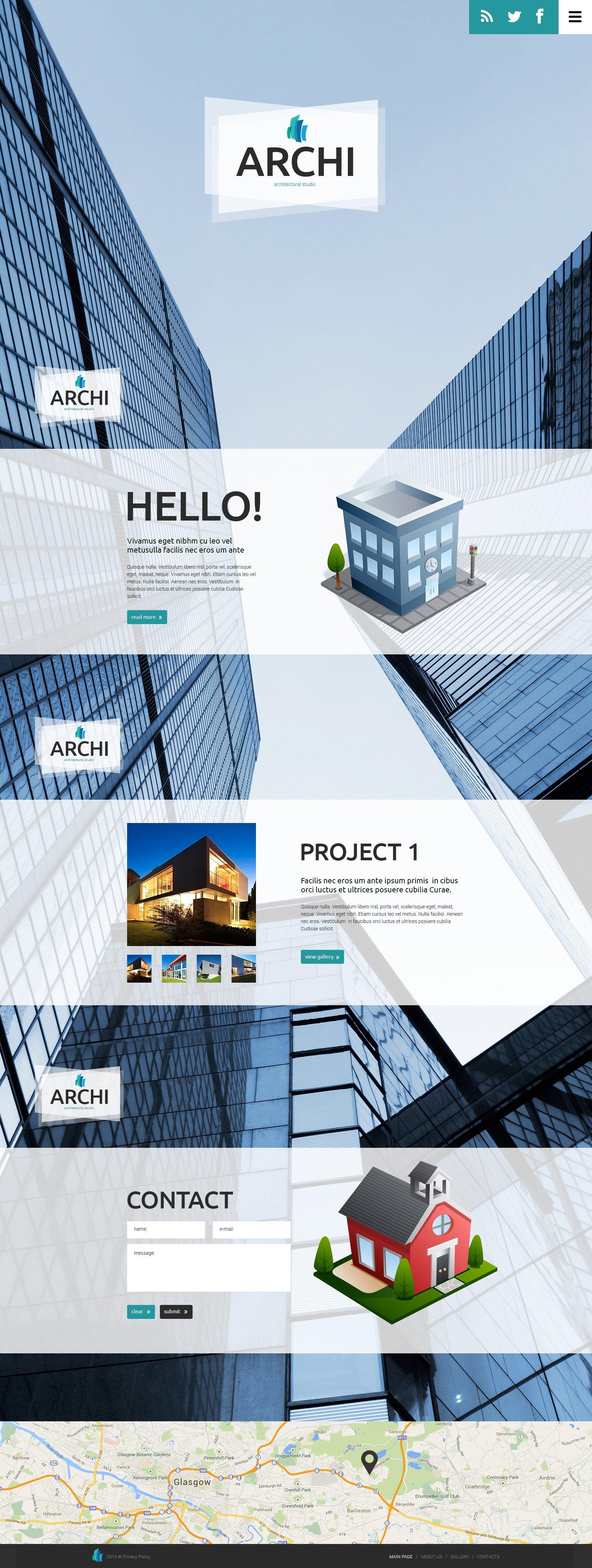 Modello Siti Web Bootstrap #49460 per Un Sito di Società di Costruzioni
