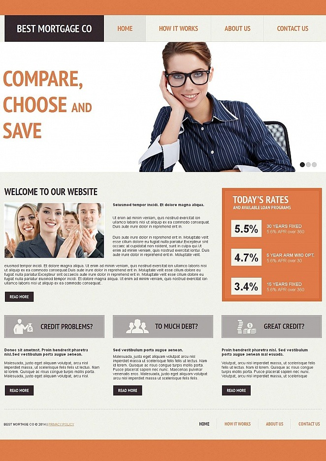 Mortgage Moto CMS HTML Template New Screenshots BIG