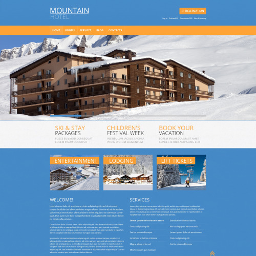 Mountain Hotel - WordPress Template based on Bootstrap