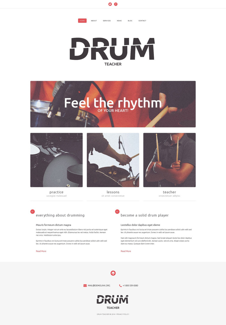 Music School Responsive Website Template New Screenshots BIG