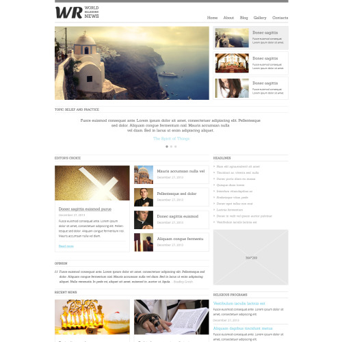 Wr World News - Joomla! Template based on Bootstrap