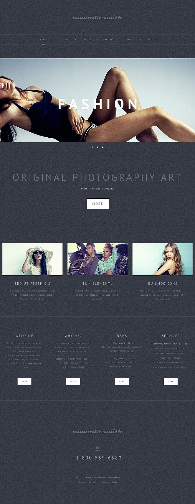 Photographer Portfolio Photo Gallery Template New Screenshots BIG
