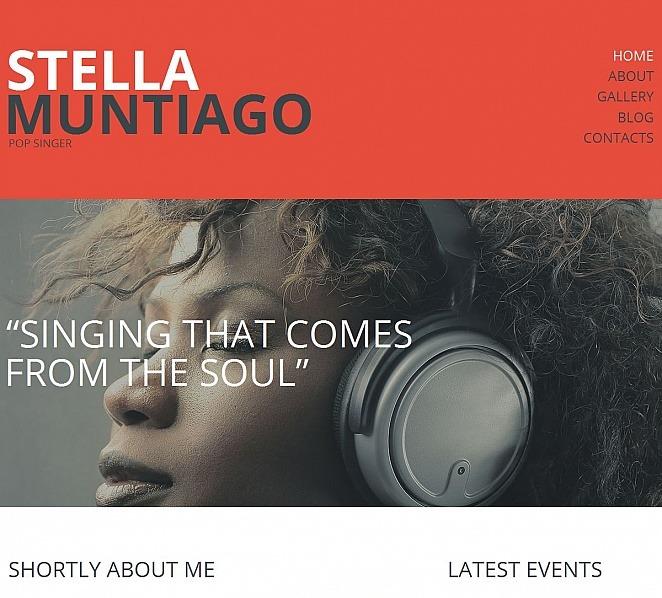 Plantilla Moto CMS HTML #49430 para Sitio de Cantante New Screenshots BIG